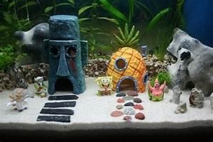 Maison Bob L U0026 39  U00e9ponge Pour Aquarium  Avec Images