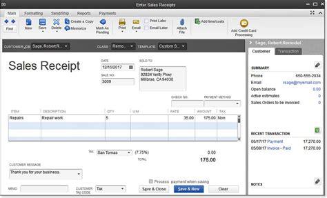 donation receipt template quickbooks sle sale receipts studio design gallery