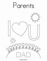 Coloring Parents Dad Mom Mother Father Built California Usa Twistynoodle sketch template