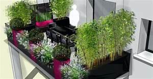 Decoration Terrasse En Bois : deco balcon terrasse pot decoration jardin inds ~ Melissatoandfro.com Idées de Décoration