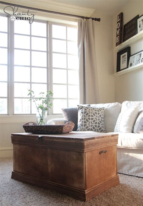 shanty 2 chic coffee table pottery barn inspired chest coffee table shanty 2 chic