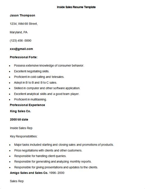 Resume Template For Sales by Sales Resume Template 41 Free Sles Exles Format