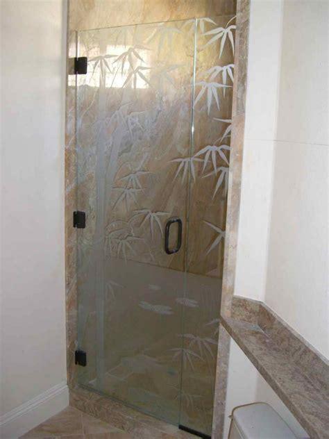 glass shower doors bmbo frmls glass shower doors etched glass asian decor