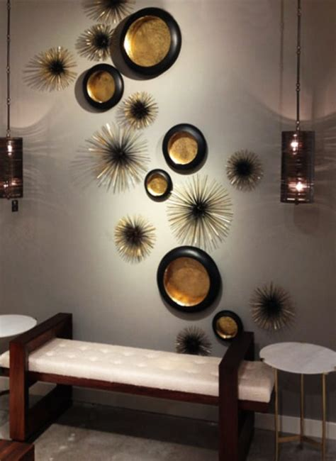 dekoideen wohnzimmer mit wand teelichthalter  schwarz