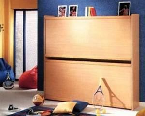 Lit Armoire Gain De Place : lits superposes relevables ~ Premium-room.com Idées de Décoration