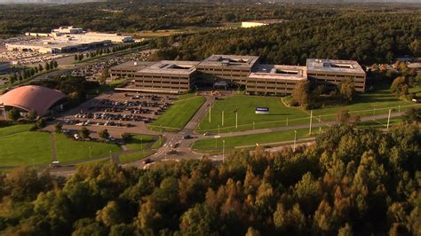 volvo cars headquarters gothenburg sweden aerial shot