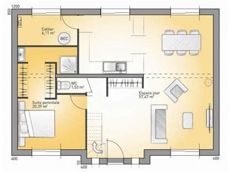 plan chambre parentale plans de maison rdc du modèle city maison moderne à
