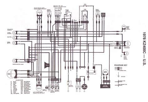 Wire Diagram 1975 Kz400 by Kz400