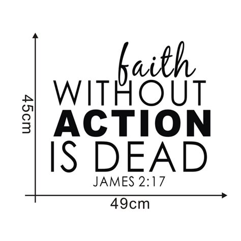 faith without action is dead words and quotes wall sticker