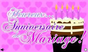 carte d anniversaire de mariage carte heureux anniversaire de mariage cybercartes