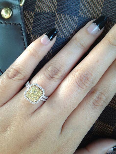 my beautiful yellow diamond engagement ring romantically