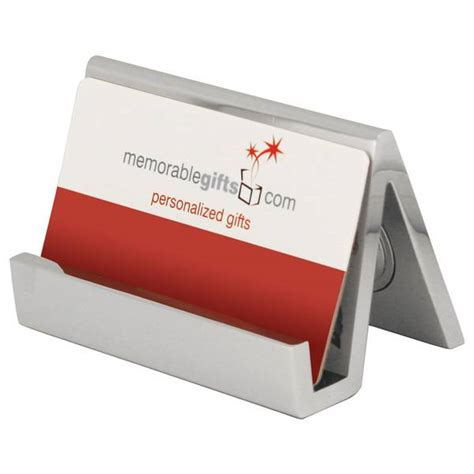 business card holder for desk personalized silver desk clock with business card holder