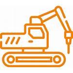 Construction Equipment Removal Icon Leftover Debris Maquinaria