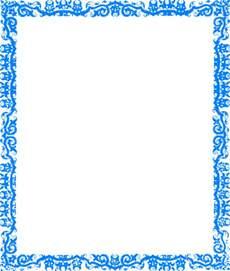 Blue Border Clip Art