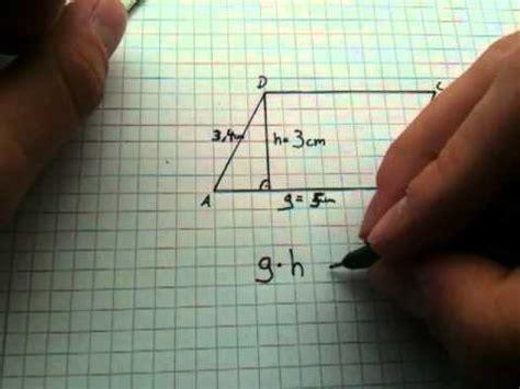 flaecheninhalt eines parallelogramms berechnen flaeche