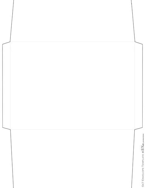5x7 envelope template bnute productions scrapbook paper ideas printed envelope including envelope templates