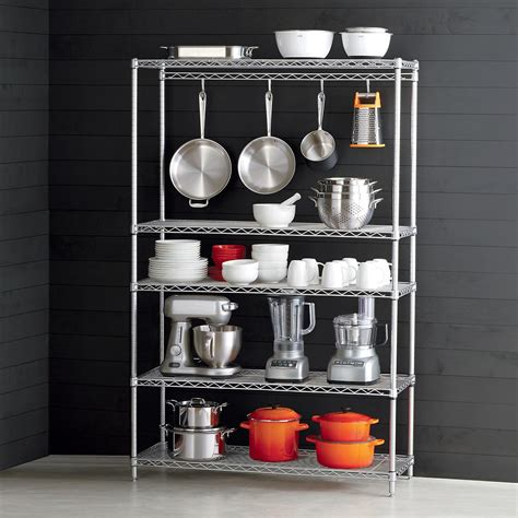 kitchen storage racks intermetro kitchen cookware storage the container 5644