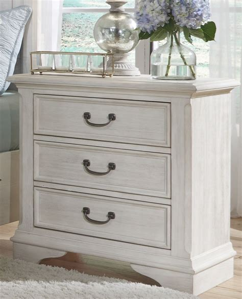 bayside white  drawer nightstand  liberty coleman