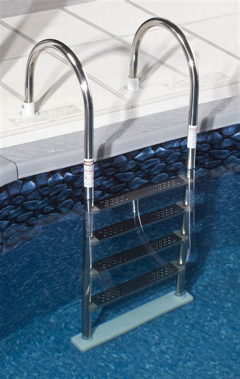 Above Ground Pool Ladder For Deck by Above Ground Stainless Steel In Pool Ladder Ne1145