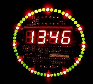 Diy Ds1302 Rotating Led Electronic Digital Clock Kit 51