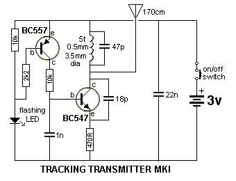 transistor blinking  tracking xtal oscillator huesnue