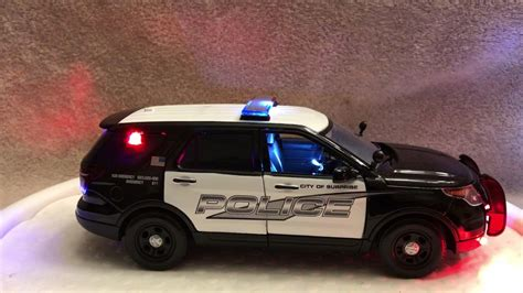1/24 Scale Suprise Az Ford Suv Diecast Police Model Car