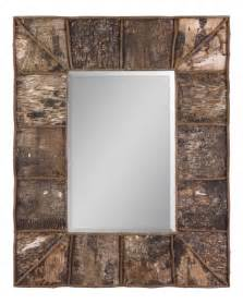 Rustic Wood Framed Bathroom Mirrors