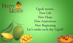 Happy Ugadi Wis... Ugadi Sms Quotes