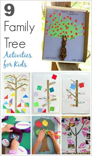 family tree activities  kids buggy  buddy