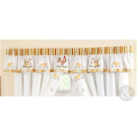 Ebay Curtains With Pelmets Ready Made by Rooster Duck Curtain Pelmet Ready Made Embroidered
