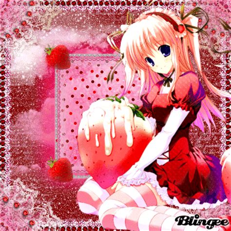Anime At The Picture 118757582 Blingee Anime Strawberries Original Vikialele