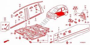 Molding Side Sill Garnish Upholstery 14 Es 2009 Jazz Honda