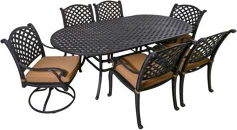 gather craft castle rock 7 outdoor dining set