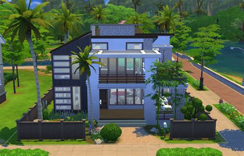 of sims 4 house building small modernity modern charm sims Best