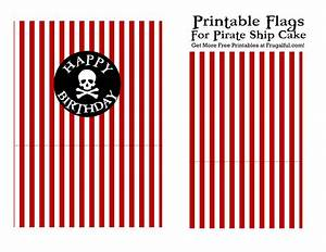 Free printable birthday cake pirate flags for your pirate for Pirate ship sails template