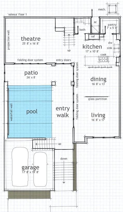 single floor house plans  indoor pool house plans