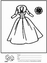 Coloring Pages Dresses Library Clipart Popular Coloringhome sketch template