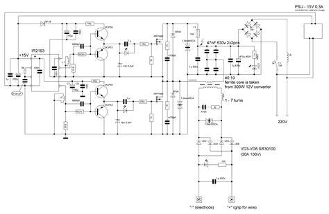 switch mode arc inverter welder schematic page