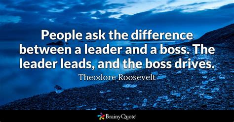 people   difference   leader   boss