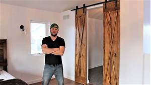 the 60 double barn door easy diy project youtube With 60 inch wide barn door