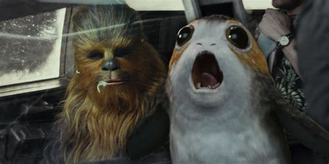 Does Chewie Eat A Porg In Star Wars 8 Screen Rant