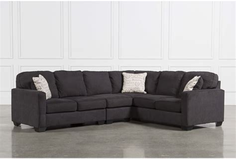Laf Sofa Sectional Benchcraft Maier Charcoal 2 Piece