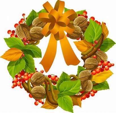 Wreath Clip Fall Clipart Autumn Grapevine Season
