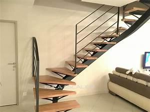 Marche Bois Escalier : td21 ysos escalier limon central marche bois kuca ~ Voncanada.com Idées de Décoration