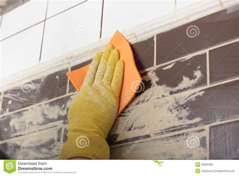 grouting ceramic tiles royalty free stock image image