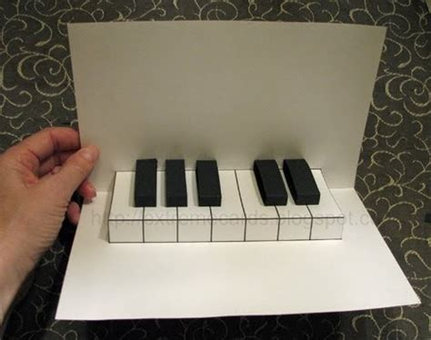 extreme cards  papercrafting easy piano pop  card