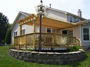 Deck Pergola Attached House Deck Best Deck With Pergola
