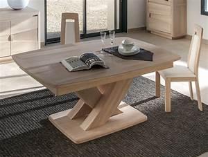 Table Pied Central Extensible : table pied central table bois maisonjoffrois ~ Teatrodelosmanantiales.com Idées de Décoration