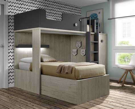 lit superpose bureau lit superposé avec bureau amovible meubles ros meubles ros