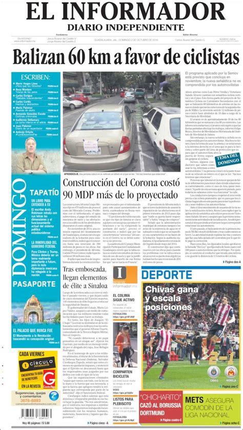 The latest tweets from @informador Periódico El Informador (México). Periódicos de México. Edición de domingo, 2 de octubre de 2016 ...